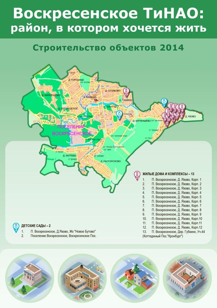 Поселение Воскресенское строительство объектов в 2011-2014 годах