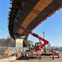 Завершен монтаж основных конструкций эстакады в районе транспортной развязки Солнцево-Бутово-Видное