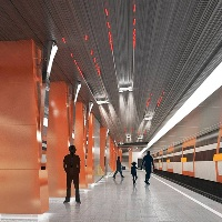 На строящейся станции метро «Боровское шоссе» установили колонны