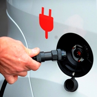 В Новомосковском округе появилась зарядная станция для электромобилей