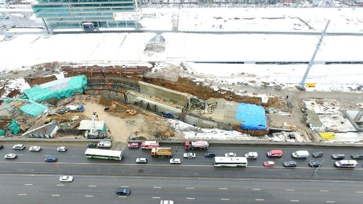 На Калужском шоссе в Новомосковском округе обрушился строящийся тоннель