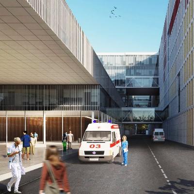 Строительство первой очереди больницы в Коммунарке завершится в конце 2018 года