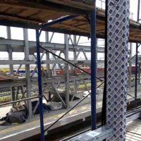 Готова первая платформа ж/д станции Остафьево