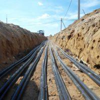 В парке «Филатов луг» приступили к прокладке новых инженерных сетей, кабель, электрокабель